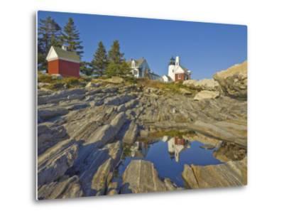 Pemaquid Lightouse and Fishermans Museum, Pemaquid Point, Maine, USA-Neale Clarke-Metal Print