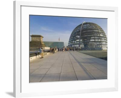 Tourists on the Roof Terrace of the Famous Reichstag Parliament Building, Berlin, Germany-Neale Clarke-Framed Photographic Print