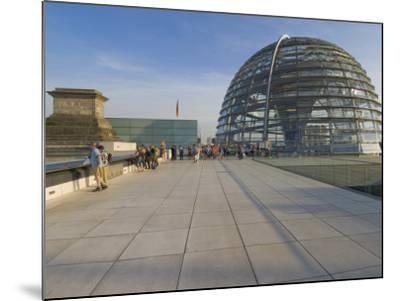 Tourists on the Roof Terrace of the Famous Reichstag Parliament Building, Berlin, Germany-Neale Clarke-Mounted Photographic Print