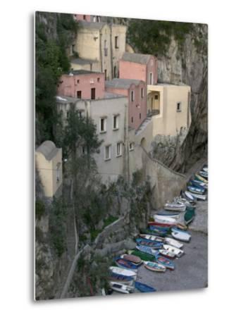 Furore, Amalfi Coast, Campania, Italy, Europe-Marco Cristofori-Metal Print