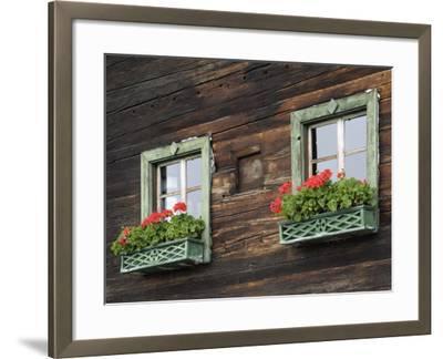 Typical Window Box, Otztal Valley, Tyrol, Austria, Europe-Gary Cook-Framed Photographic Print