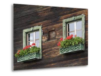 Typical Window Box, Otztal Valley, Tyrol, Austria, Europe-Gary Cook-Metal Print