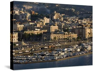 Yacht Marina, Port of Messina, Sicily, Italy, Mediterranean, Europe-Richard Cummins-Stretched Canvas Print