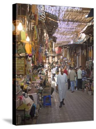 Souk, Marrakech, Morocco, North Africa, Africa-Marco Cristofori-Stretched Canvas Print