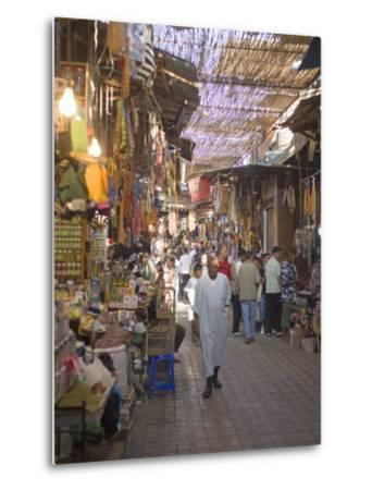 Souk, Marrakech, Morocco, North Africa, Africa-Marco Cristofori-Metal Print