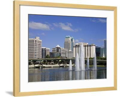 Fountain, Lake Lucerne, Orlando, Florida, United States of America, North America-Richard Cummins-Framed Photographic Print