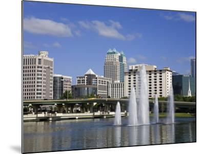 Fountain, Lake Lucerne, Orlando, Florida, United States of America, North America-Richard Cummins-Mounted Photographic Print