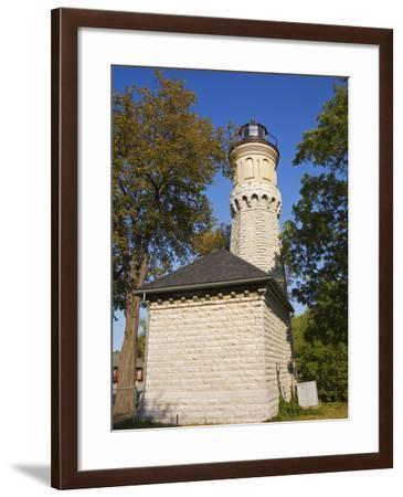 Niagara Lighthouse, Old Fort Niagara State Park, Youngstown, New York State, USA-Richard Cummins-Framed Photographic Print