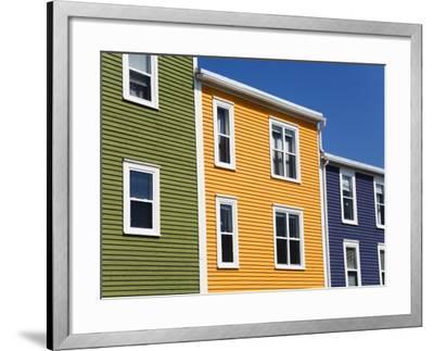 Colourful Houses in St. John's City, Newfoundland, Canada, North America-Richard Cummins-Framed Photographic Print