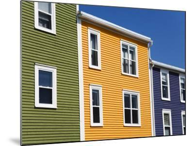 Colourful Houses in St. John's City, Newfoundland, Canada, North America-Richard Cummins-Mounted Photographic Print
