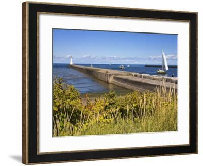 Outer Sodus Lighthouse, Greater Rochester Area, New York State, USA-Richard Cummins-Framed Photographic Print