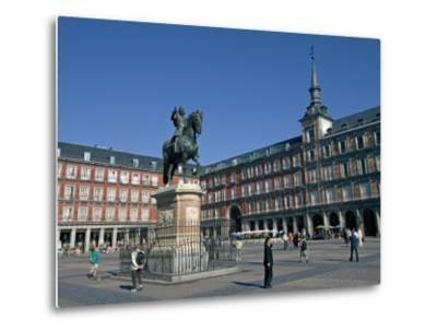 Plaza Mayor, Madrid, Spain, Europe-Marco Cristofori-Metal Print