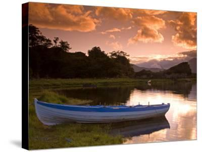Boat, Upper Lake, Killarney National Park, County Kerry, Munster, Republic of Ireland, Europe-Richard Cummins-Stretched Canvas Print