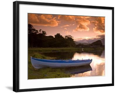 Boat, Upper Lake, Killarney National Park, County Kerry, Munster, Republic of Ireland, Europe-Richard Cummins-Framed Photographic Print