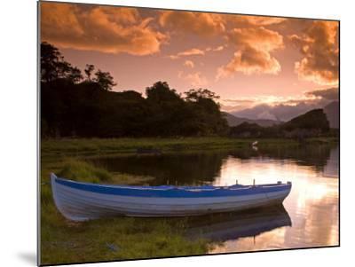 Boat, Upper Lake, Killarney National Park, County Kerry, Munster, Republic of Ireland, Europe-Richard Cummins-Mounted Photographic Print