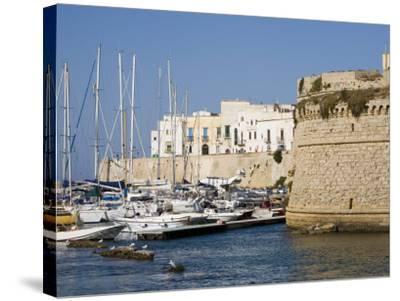Castle, Gallipoli, Lecce Province, Puglia, Italy, Europe-Marco Cristofori-Stretched Canvas Print