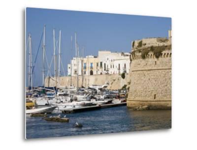 Castle, Gallipoli, Lecce Province, Puglia, Italy, Europe-Marco Cristofori-Metal Print