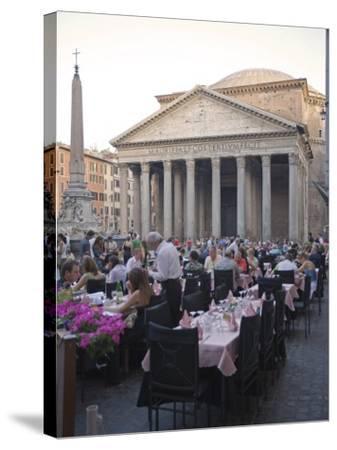 Rotonda Square and Pantheon, Rome, Lazio, Italy, Europe-Marco Cristofori-Stretched Canvas Print