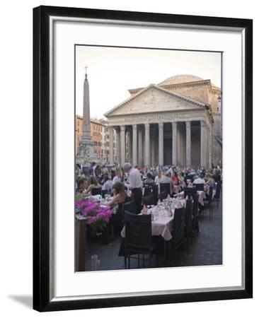 Rotonda Square and Pantheon, Rome, Lazio, Italy, Europe-Marco Cristofori-Framed Photographic Print