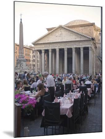 Rotonda Square and Pantheon, Rome, Lazio, Italy, Europe-Marco Cristofori-Mounted Photographic Print