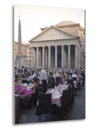 Rotonda Square and Pantheon, Rome, Lazio, Italy, Europe-Marco Cristofori-Metal Print