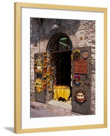 Artist's Shop, Assisi, Umbria, Italy, Europe-Patrick Dieudonne-Framed Photographic Print
