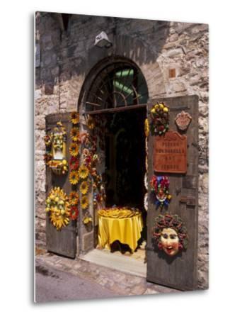Artist's Shop, Assisi, Umbria, Italy, Europe-Patrick Dieudonne-Metal Print
