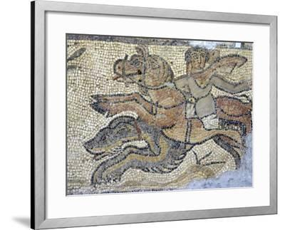 Mosaic, Currently in the Museum, Taken from the Greek and Roman Site of Cyrene, Libya-Ethel Davies-Framed Photographic Print