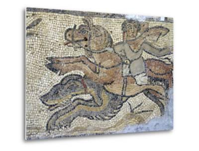 Mosaic, Currently in the Museum, Taken from the Greek and Roman Site of Cyrene, Libya-Ethel Davies-Metal Print