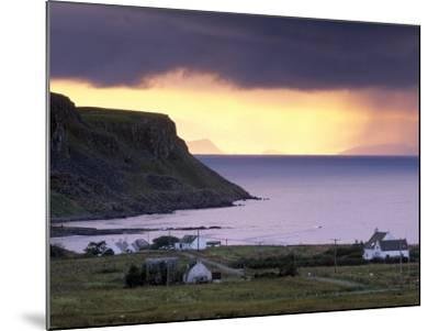 Sunset and Stormy Weather Near Bornesketaig, Trotternish, Isle of Skye, Inner Hebrides, Scotland-Patrick Dieudonne-Mounted Photographic Print