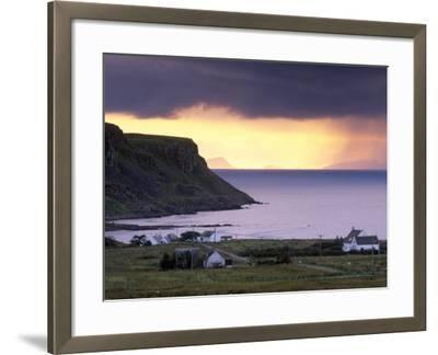 Sunset and Stormy Weather Near Bornesketaig, Trotternish, Isle of Skye, Inner Hebrides, Scotland-Patrick Dieudonne-Framed Photographic Print