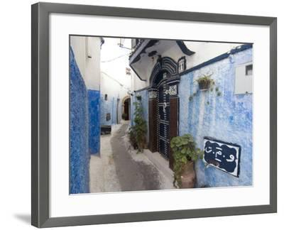 Route in the Kasbah, Rabat, Morocco, North Africa, Africa-Ethel Davies-Framed Photographic Print