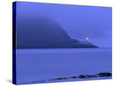 Bressay Lighthouse, Kirkabister Ness, Bressay, Shetland Islands, Scotland, United Kingdom, Europe-Patrick Dieudonne-Stretched Canvas Print