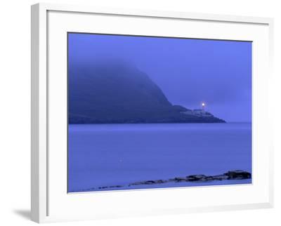 Bressay Lighthouse, Kirkabister Ness, Bressay, Shetland Islands, Scotland, United Kingdom, Europe-Patrick Dieudonne-Framed Photographic Print