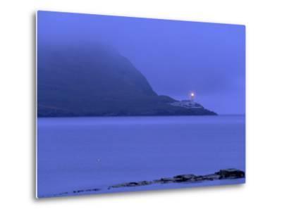 Bressay Lighthouse, Kirkabister Ness, Bressay, Shetland Islands, Scotland, United Kingdom, Europe-Patrick Dieudonne-Metal Print