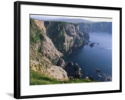 Cliffs of Hermaness National Nature Reserve, Unst, Shetland Islands, Scotland, UK-Patrick Dieudonne-Framed Photographic Print