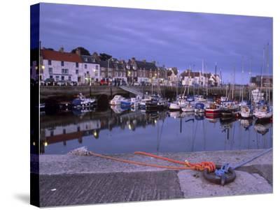 Findochty Harbour, Morayshire, Scotland, United Kingdom, Europe-Patrick Dieudonne-Stretched Canvas Print