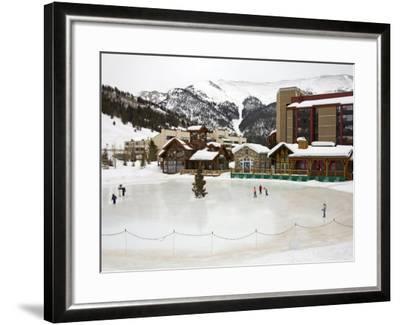 Ice Rink at Copper Mountain Ski Resort, Rocky Mountains, Colorado, USA-Richard Cummins-Framed Photographic Print