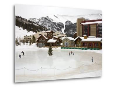 Ice Rink at Copper Mountain Ski Resort, Rocky Mountains, Colorado, USA-Richard Cummins-Metal Print