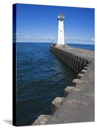 Outer Sodus Lighthouse, Greater Rochester Area, New York State, USA-Richard Cummins-Stretched Canvas Print