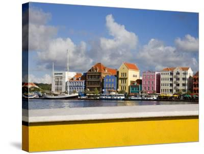 Stores on Handelskade, Punda District, Willemstad, Curacao, Netherlands Antilles, West Indies-Richard Cummins-Stretched Canvas Print