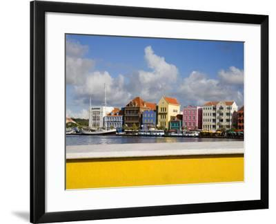 Stores on Handelskade, Punda District, Willemstad, Curacao, Netherlands Antilles, West Indies-Richard Cummins-Framed Photographic Print