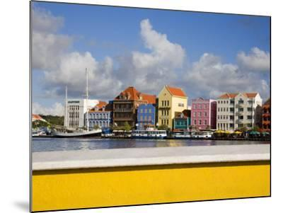 Stores on Handelskade, Punda District, Willemstad, Curacao, Netherlands Antilles, West Indies-Richard Cummins-Mounted Photographic Print