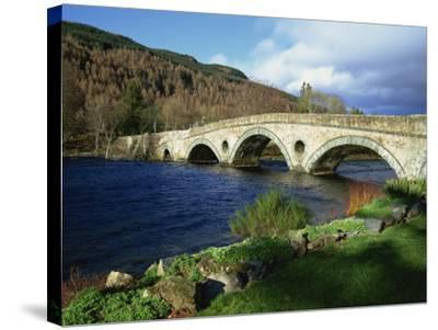 Bridges, Kenmore, Loch Tay, Scotland, United Kingdom, Europe-Ethel Davies-Stretched Canvas Print