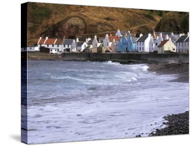 Small Fishing Village of Pennan, North Coast, Aberdeenshire, Scotland, UK-Patrick Dieudonne-Stretched Canvas Print