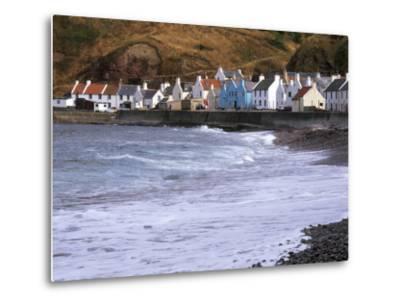 Small Fishing Village of Pennan, North Coast, Aberdeenshire, Scotland, UK-Patrick Dieudonne-Metal Print