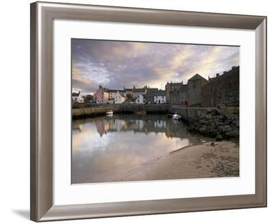 Old Harbour Dating from the 17th Century, of Portsoy at Sunset, Near Banff, Aberdeenshire, Scotland-Patrick Dieudonne-Framed Photographic Print