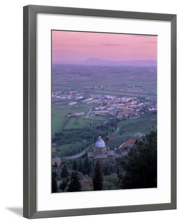 View from the Town at Sunset, Cortona, Tuscany, Italy, Europe-Patrick Dieudonne-Framed Photographic Print