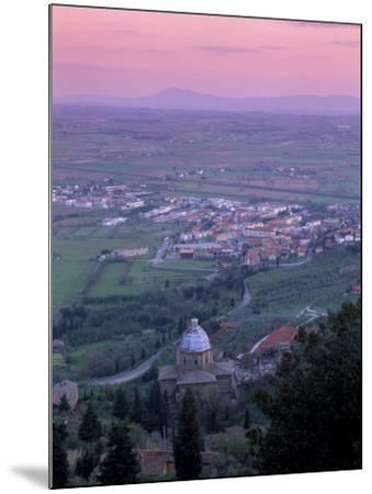 View from the Town at Sunset, Cortona, Tuscany, Italy, Europe-Patrick Dieudonne-Mounted Photographic Print