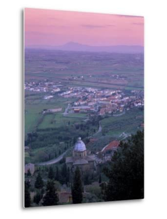 View from the Town at Sunset, Cortona, Tuscany, Italy, Europe-Patrick Dieudonne-Metal Print